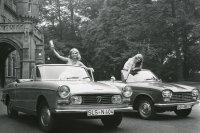 Der 404 war noch ein reiner Pininfarina-Entwurf, im 204 (rechts) wurden französische und italienische Ansätze kombiniert