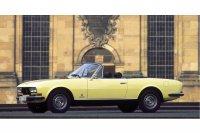 1974 wurde das 504 Cabriolet gelifetet und bekam unter anderem breitere Scheinwerfer