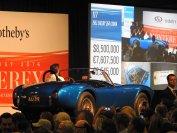 Auch eine unwiederbringliche Gelegenheit ist die versteigerte Shelby Cobra – die erste die jemals gebaut wurde. Sie erzielte mit 13,75 Millionen Dollar den Rekord für ein amerikanisches Fahrzeug