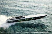 Über 3.000 PS stark: Das 2017 vorgestellte Speedboat von AMG und Cigarette Racing