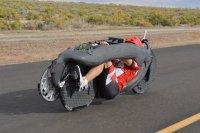 2016 erreichte Todd Reichert mit seinem Aerovelo allein mit seiner Muskelkraft 144 km/h