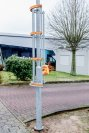 Nicht schön, aber zweckmäßig: Die Bike-Flash-Säule könnte Kreuzungen entschärfen, bei denen Radfahrer von abbiegenden Autos übersehen werden