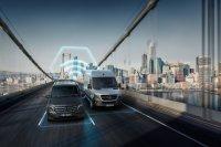 Der Konnektivitätsdienst Mercedes Pro, der sich vor allem an Fuhrparkmanager richtet, ermöglicht eine Vernetzung von Fahrzeugen und Fahrern