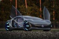 Mercedes sorgte auf der Technikmesse CES in Las Vegas mit dem AVTR für einen ersten Paukenschlag in Sachen weiter entfernte Autozukunft