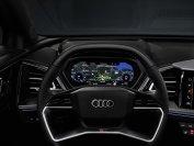 Zeitgemäß ist das Kombiinstrument im Audi Q4 digital