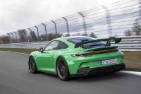 Besonders wichtig beim neuen 911 GT3 ist der aerodynamisch optimierte Heckflügel