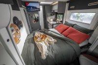 Geschlafen wird in einem Hubbett